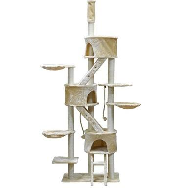 Three Condo Cat Tree Go Pet Club - Requires Assembly - The Happy Dolphin Pets