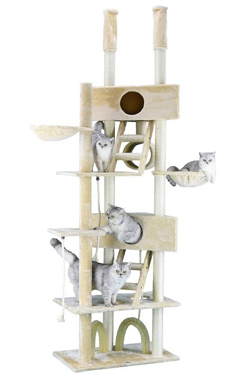 "106"" Cat Tree Condo Furniture  Go Pet Club  48""Wx18""Lx92""-106""H - Requires Assembly - The Happy Dolphin Pets"