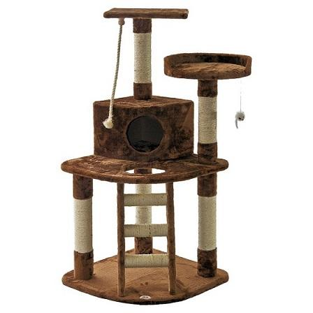 "47"" Cat Tree with Ladder & Rope Go Pet Club - Requires Assembly - The Happy Dolphin Pets"