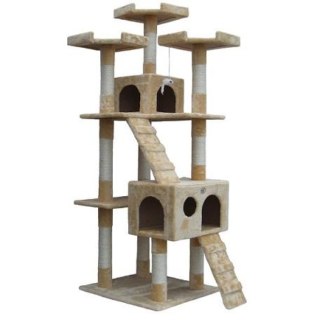 "72"" Mya Cat Tree Go Pet Club - The Happy Dolphin Pets"