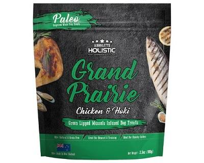 ABSOLUTE HOLISTIC AIR DRIED DOG TREATS - GRAND PRAIRIE CHICKEN & HOKI 100G - The Happy Dolphin Pets
