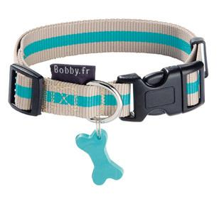 Bobby Arlequin Collar Blue and Beige - The Happy Dolphin Pets