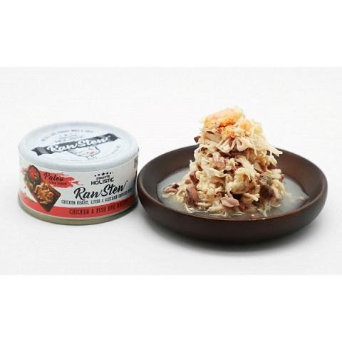 Absolute Holistic Raw Stew Chicken & Fish Roe Canned Cat & Dog Food 80g - The Happy Dolphin Pets