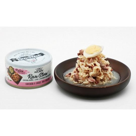 Absolute Holistic Raw Stew Chicken & Quail Egg Canned Cat & Dog Food 80g - The Happy Dolphin Pets