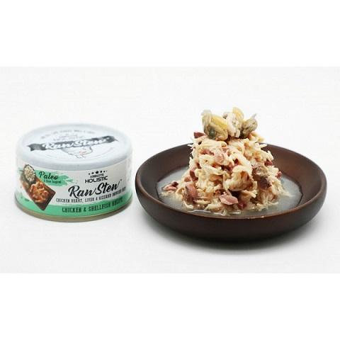 Absolute Holistic Raw Stew Chicken & Shellfish Canned Cat & Dog Food 80g - The Happy Dolphin Pets