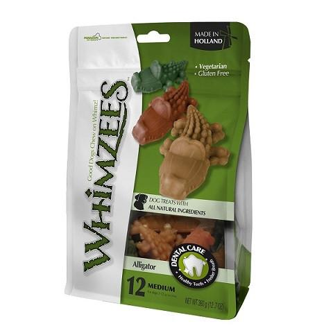Whimzees Alligator Medium Mix (12PC) - The Happy Dolphin Pets