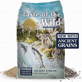 Ancient Stream with salmon and ocean fish Dog Food - The Happy Dolphin Pets