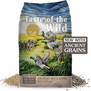 Ancient Wetlands with duck Dog Food - The Happy Dolphin Pets