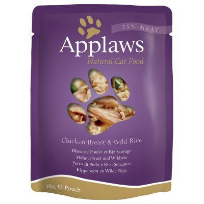 Applaws Chicken With Wild Rice Wet Cat Food 70g - The Happy Dolphin Pets