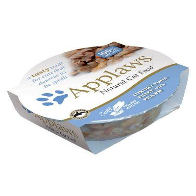 Applaws Cat Tuna With Prawn Pot 60g - The Happy Dolphin Pets