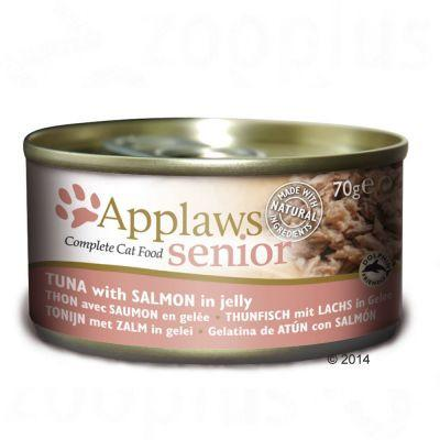 Applaws For Senior Cat Tuna W Salmon In Jelly 70g - The Happy Dolphin Pets