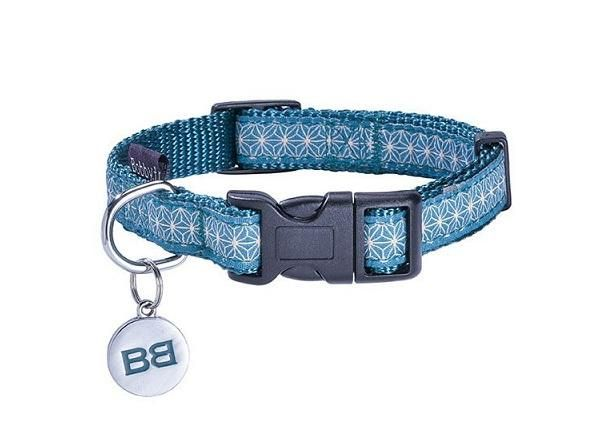 Bobby Asanoha Dog Collar - Blue - The Happy Dolphin Pets