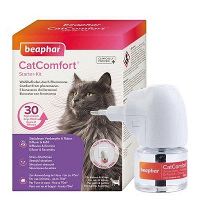 Beaphar CatComfort Starter Kit Diffuser 48ml - Exp End October 2020 - The Happy Dolphin Pets