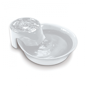 Pioneer Pet Ceramic Fountain Big Max Style - White 128oz (3.8 L) - The Happy Dolphin Pets