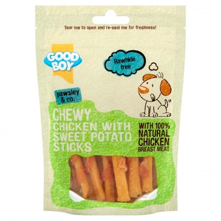 Armitage Good Boy Chicken & Sweet Potato Stick Dog Treat 90G - The Happy Dolphin Pets