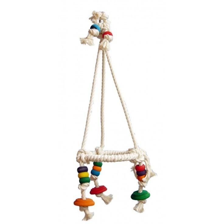 COTTON PYRAMIDE For Small Parrots - The Happy Dolphin Pets
