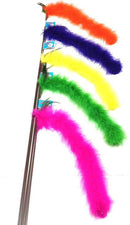 "Cat Tail Teaser - Available on 18"" rod & 36"" rod- Made in USA - The Happy Dolphin Pets"