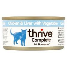 Thrive CHICKEN LIVER & Vegetables Cat Food 75g - The Happy Dolphin Pets