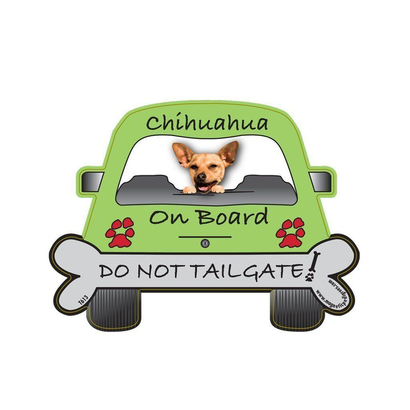 Chihuahua Tailgate Custom Shaped Magnet - The Happy Dolphin Pets