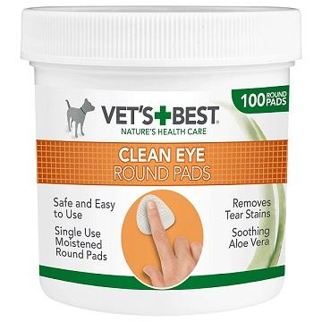 Vet's Best Eye Cleaning Pads for Dogs (100 Pads) - The Happy Dolphin Pets