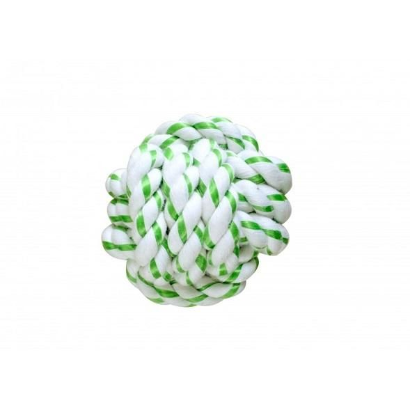 PACK OF 4 DENTAL ROPE BALLS - 8 CM - The Happy Dolphin Pets