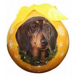 Dachshund Xmas Ornament Shatter Proof Ball - The Happy Dolphin Pets