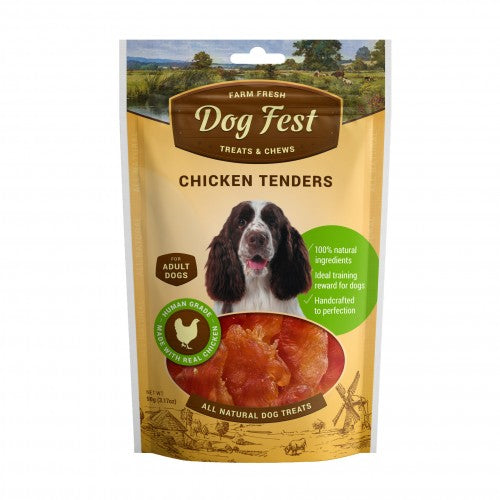 Dog Fest Chicken tenders for adult dogs - 90g - The Happy Dolphin Pets