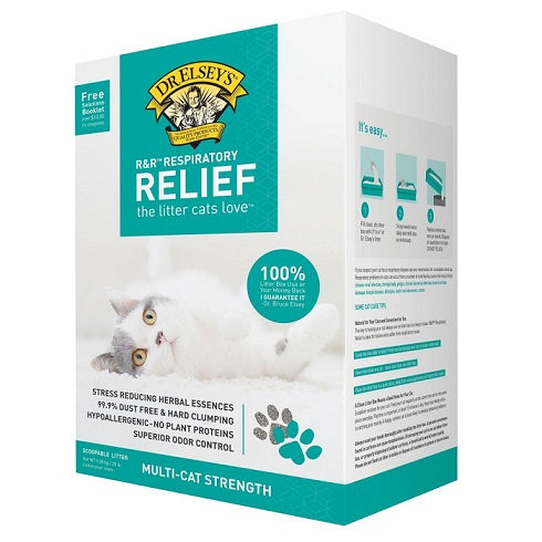 Dr. Elsey's Precious Cat Herbal Essence Hypoallergenic Respiratory Relief Clumping Clay Litter 9kg - The Happy Dolphin Pets