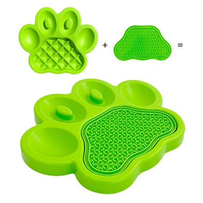 PetDreamHouse Paw 2 in 1 Slow Feeder & Lick Pad For Dogs - Dubai