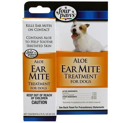 Four Paws Ear Mite Remedy for Dogs - 75oz - The Happy Dolphin Pets