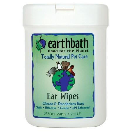 earthbath Pets Ear Wipes Fragrance Free - The Happy Dolphin Pets