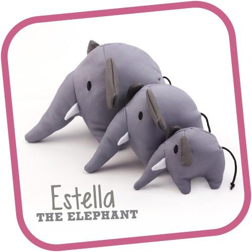 Estella The Elephant From Beco Small - The Happy Dolphin Pets