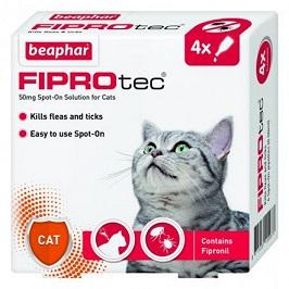 Fiprotec For Cats  kills fleas and ticks - 4 VIALS - The Happy Dolphin Pets