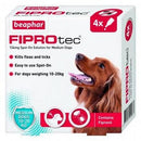 Fiprotec For Medium Dogs kills fleas and ticks - 4 VIALS - The Happy Dolphin Pets