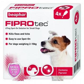 Fiprotec For Small Dogs kills fleas and ticks - 4 VIALS - The Happy Dolphin Pets