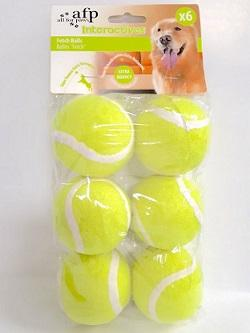 FETCH BALLS Super Bouncy - 6 Per PACK - The Happy Dolphin Pets