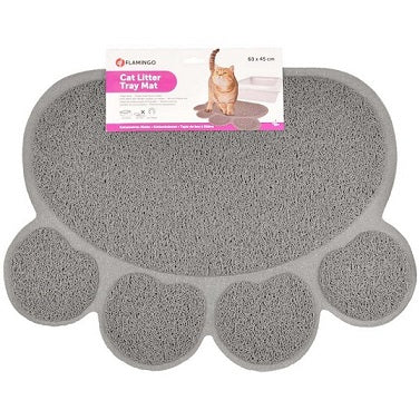 Flamingo Cat Litter Tray Paw Mat - The Happy Dolphin Pets