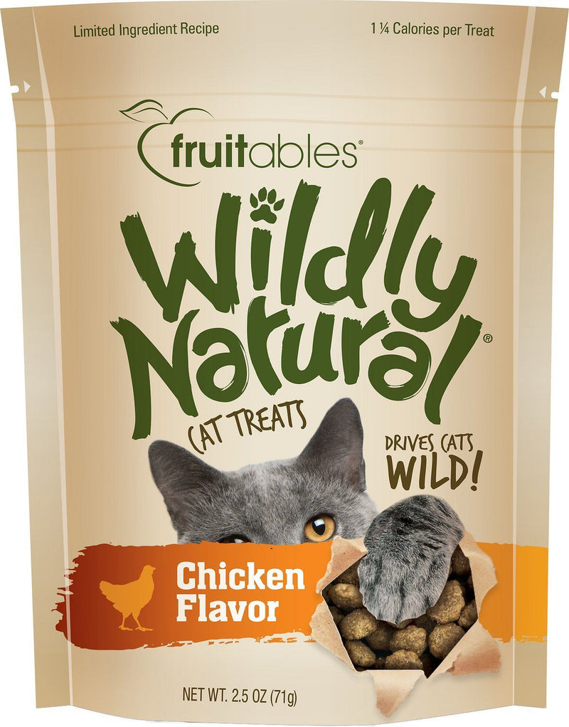 Fruitables Wildly Natural Cat Treats - Chicken Flavor (71g) - The Happy Dolphin Pets