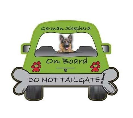 German Shepherd Tailgate Custom Shaped Magnet - The Happy Dolphin Pets