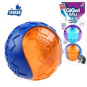GIGWI SQUEAKER BALL MEDIUM (2 PACK)