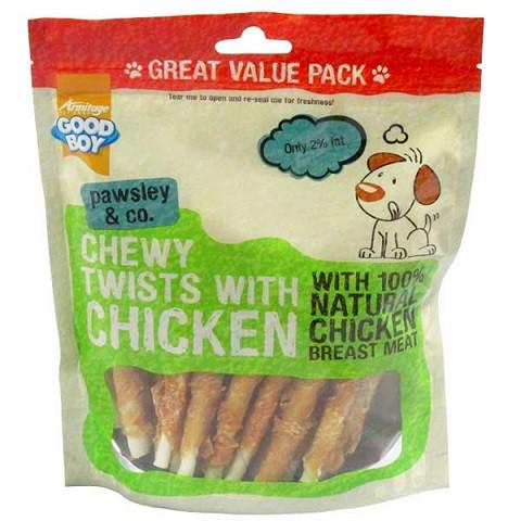 Armitage Good Boy Pawsley Chewy Twists with Chicken Dog Treats - The Happy Dolphin Pets