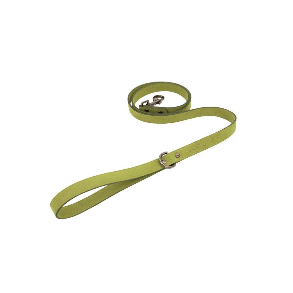 Green Harness Leash - Made of Synthetic Lambskin - The Happy Dolphin Pets