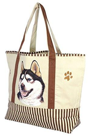 Husky Tote Bag - The Happy Dolphin Pets