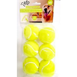 MAXI FETCH SUPER BOUNCE TENNIS BALLS - 6 Per PACK - The Happy Dolphin Pets