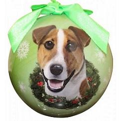 Jack Russel Xmas Ornament Shatter Proof Ball - The Happy Dolphin Pets