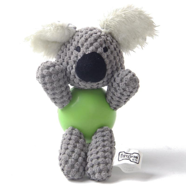 Koala With Rubber Ball And Squeaky  - Small - The Happy Dolphin Pets