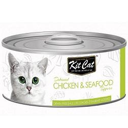Kit Cat Deboned Chicken & Seafood - 80g - The Happy Dolphin Pets