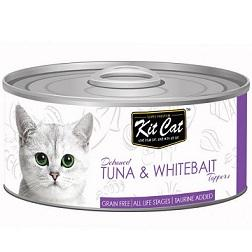 Kit Cat Deboned Tuna & Whitebait - 80g - The Happy Dolphin Pets