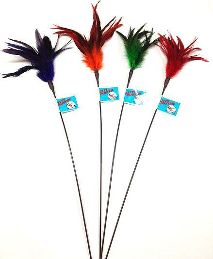 "Kitty Duster on 18"" rod - Made in USA - The Happy Dolphin Pets"