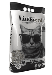 Lindocat Natural White Clumping Cat Litter 15L - The Happy Dolphin Pets